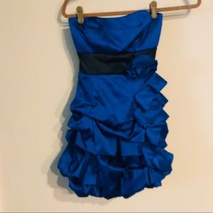 Ruby Rox blue strapless party dress size 7
